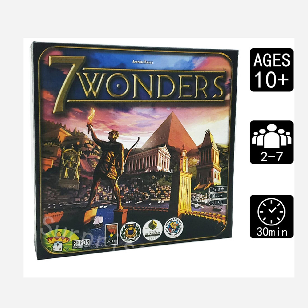 Popular 7 Wonders Board Game 3-7 Players Cards Game In English Edition Family Home Entertainment Strategy Toy Table Games