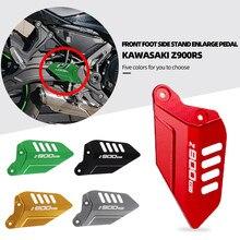 Z900 rs apoio para os pés pedal protetor da motocicleta esquerda e direita placas asa capa calcanhar placa footpeg para 2017-2020 kawasaki z900rs