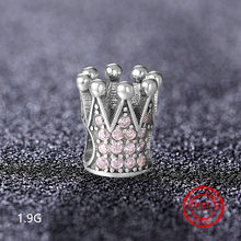 100% 925 sterling silver / crown / life tree beads suitable for Pandora bracelet charm DIY original silver jewelry accessories(China)