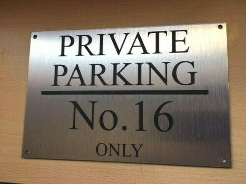 Ev Dekorasyonu'ten Kapı Plakaları'de Özelleştirmek kişiselleştirilmiş özel fırçalanmış alüminyum özel ayrılmış hiçbir park burcu 300x200 title=