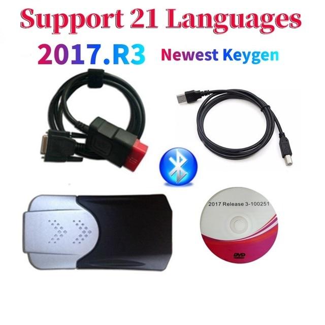 2021 neue Ankunft 2017.R3 2016.R0 keygen vd ds150e cdp Bluetooth vd tcs cdp autos/lkw OBD Diagnose Werkzeug für delphis