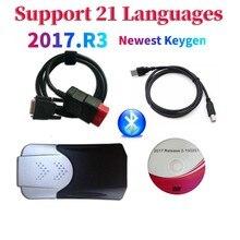 2021 nuovo arrivo 2017.R3 2016.R0 keygen vd ds150e cdp Bluetooth vd tcs cdp auto/camion strumento diagnostico OBD per delphis