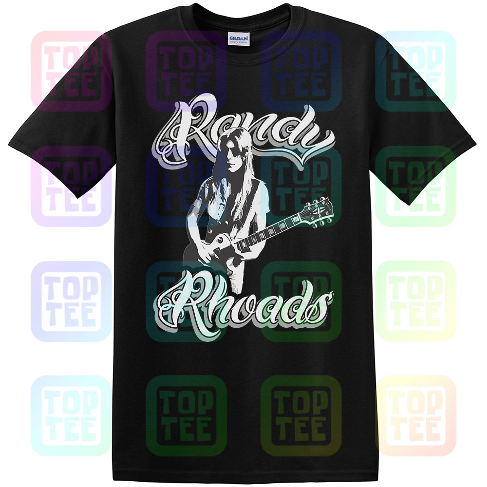 ROCK GOD <font><b>RANDY</b></font> <font><b>RHOADS</b></font> 2 METAL UNOFFICIAL GUITAR HERO T-SHIRT ADULTS SIZES image