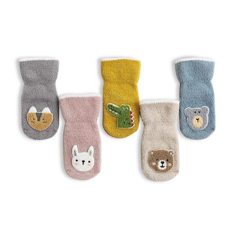 Verdicken Herbst Winter Korallen Fleece Baby Kinder Socken Weichen, Warmen Socken für Kinder 0-3 Jahre Jungen Mädchen Nicht-slip Boden Baby Socken