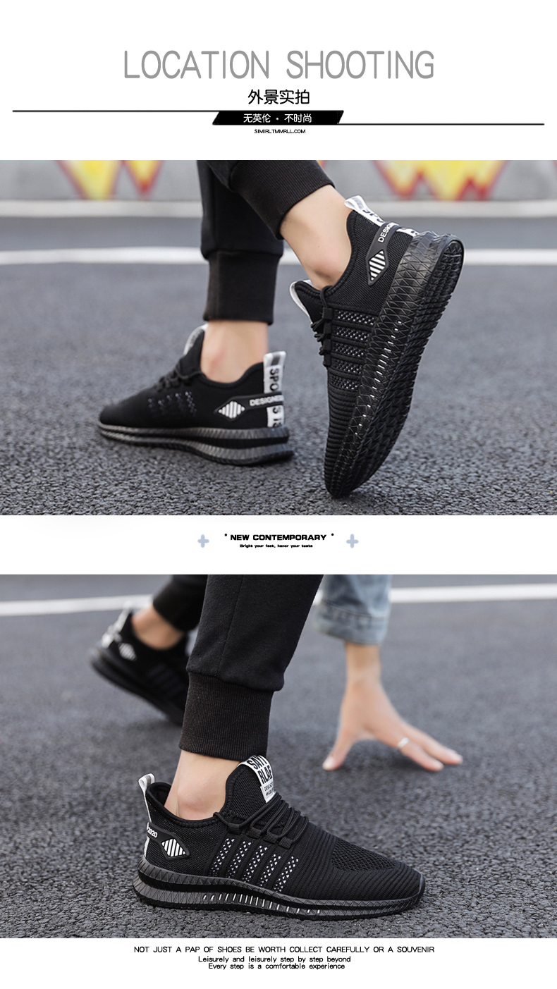 H03ce138f4d0e4adb91f787578d0262876 Fashion Sneakers Lightweight Men Casual Shoes Breathable Male Footwear Lace Up Walking Shoe