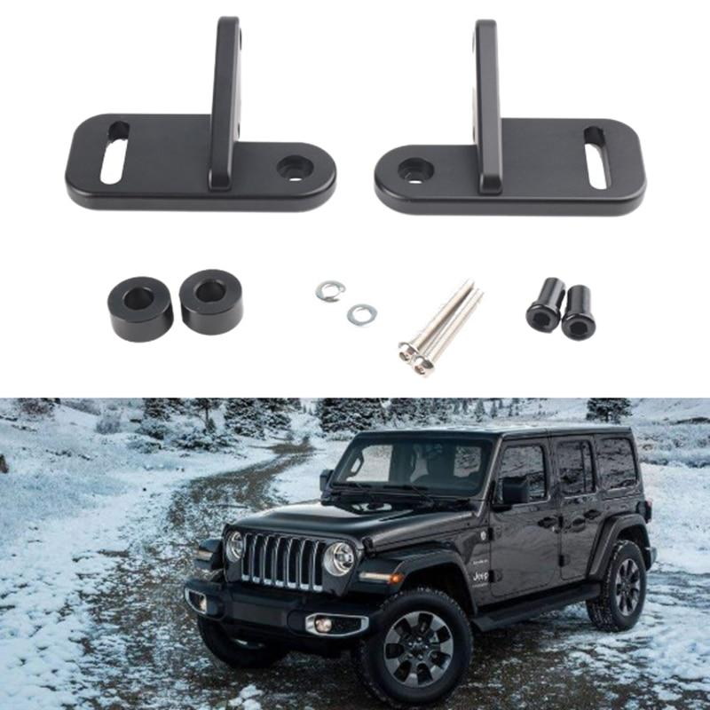2X Car Spotlight Bracket Refit Holders A-Pillar Fit For Jeep Wrangler JL 2018-19