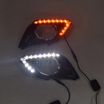 LED DRL Daytime Running Light Fog Lamp 12V Car Running Lights for Nissan X-Trail Xtrail 2014-2016