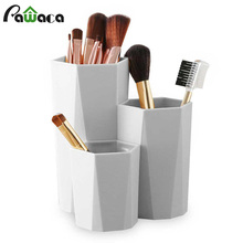 3 Lattices cosméticos maquillaje caja de almacenamiento maquillaje brocha soporte Mesa organizador maquillaje esmalte de uñas soporte cosmético maquillaje herramientas