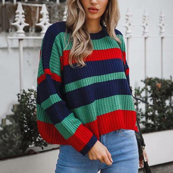 sweaters women Casual Knitwear pullovers striped fashion sweater ladies Spring Knitted sweater Plus size sweater Preppy style цена 2017