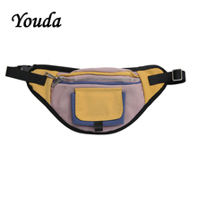 Youda Fashion New Original Design Chest Bag Large Capacity Portable Phone Pouch Hip Hop Style Street Pockets Classic Waist Pack