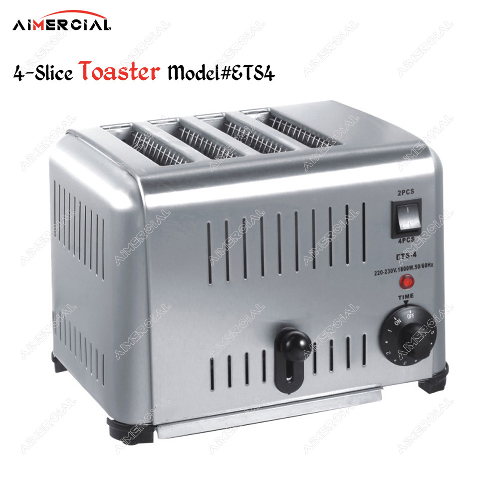ETS4/ETS6 Electric Toaster 4-slice/6-slice Sandwich Bread Stainless Steel Machine