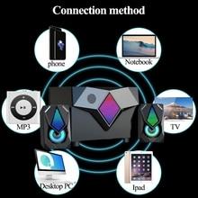 LED Light Power Music Center Bluetooth Computer Speaker Multimedia Home Theater Subwoofer Support For PC Speakers Desktop Laptop