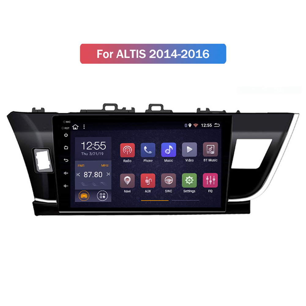 """Car Radio for Toyota Corolla Altis 2014 2015 2016 multimedia stereo system gps navigation unit SWC WIFI Android 8.1 10"""" no 2 din"""