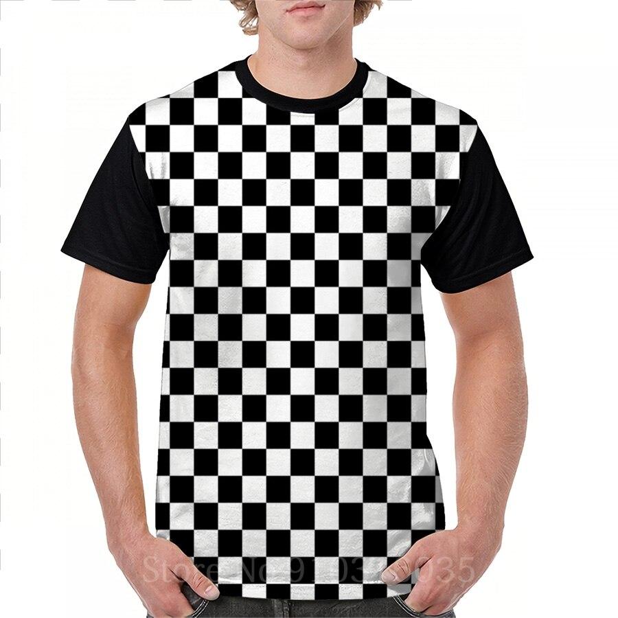 Camiseta con estampado divertido para hombre y mujer, remera con estampado en blanco y negro