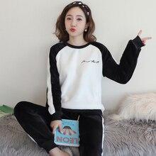 Sleepwear warm for women sleep lounge pyjamas long sleeved s