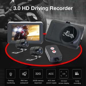 Image 4 - Câmera da motocicleta dvr locomotiva gravador frente e traseira dupla lente traço cam com gravação de pista dupla escondida gravador de condução