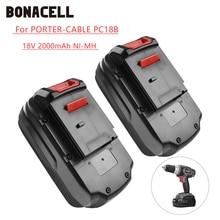 Bonacell 2000mAh 18V Battery for PORTER CABLE PC18B PCC489N PC18BLEX PC18SS PC18JR PC18JS PC18FL PCC581B PC18DS L30