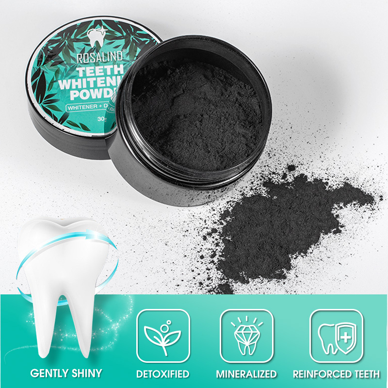 ROSALIND Teeth Whitening Oral Powder Activated Charcoal Carbon Hygiene Cleaning Teeth Dental  Instrument Tools Equipment 30g
