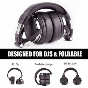 Image 4 - Oneodio fones de ouvido estéreo com fio estúdio profissional dj fone de ouvido com microfone sobre o monitor estúdio fone baixo