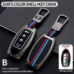 5 Button Car Key Case For Nissan Rouge Maxima Altima Sentra Murano Qashqai Cover Keyless Remote Fob Shell Skin Holder Keychain