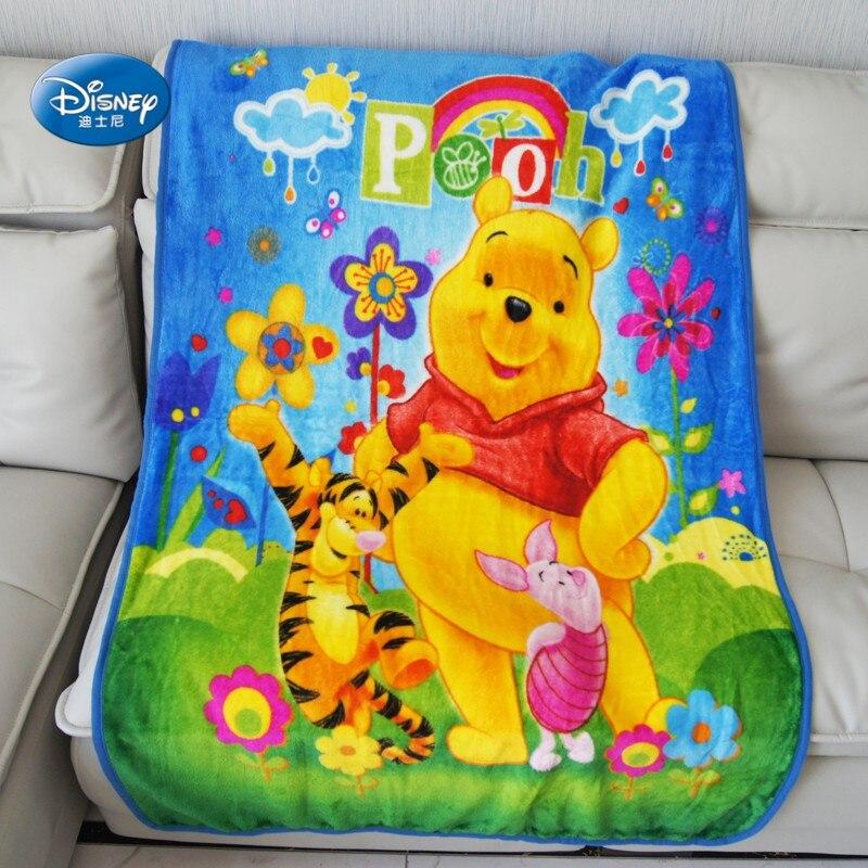 Couverture douce en flanelle Disney motif ours | Couvertures de joyeux Winnie ours, cadeau d'anniversaire pour chambre à coucher garçons, 100x 140cm