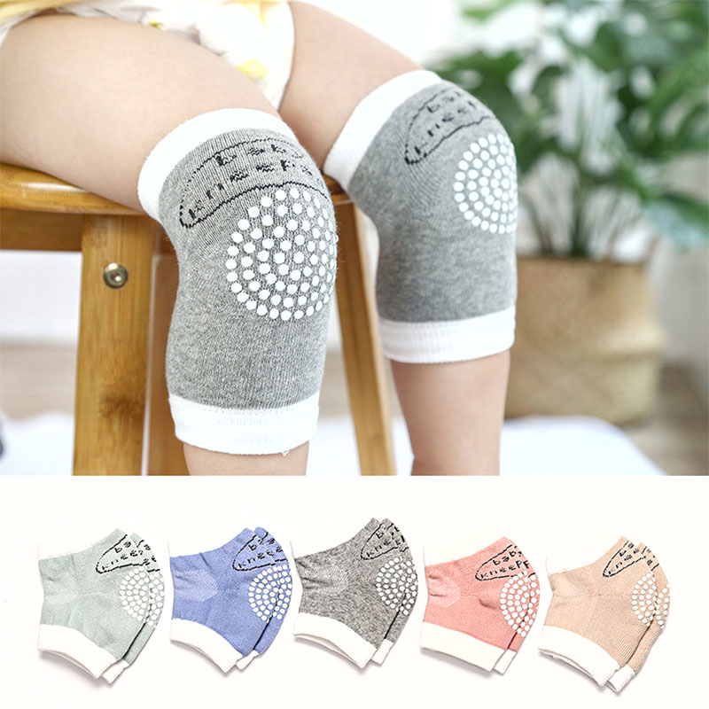 0-3 Years Old 1Pair Soft Anti-slip Safety Crawling Elbow Cushion Knee Pad Cotton Baby Infant Born Toddler Kids Knee Socks