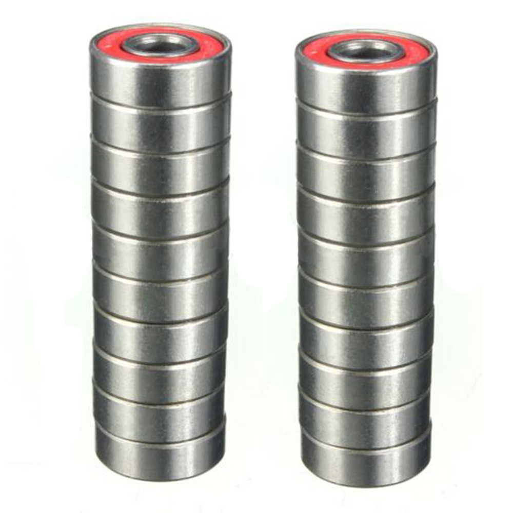 20pcs Roller Skate Skateboard Ball Wheel Bearing <font><b>ABEC</b></font>-<font><b>9</b></font> <font><b>608</b></font> RS <font><b>2RS</b></font> image