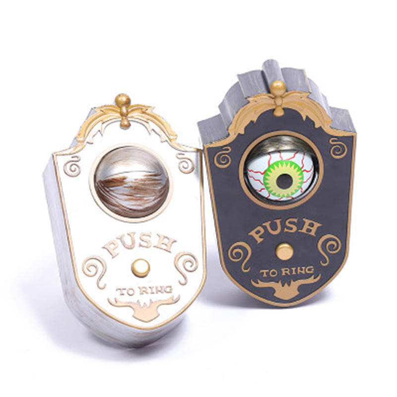 Novelty Doorbell Toy Halloween Door Decorations Horror Props Creepy Eyes Doorbell Haunted House Escapes Home Scary Eyes