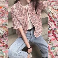 The sun bath colorful soft weaving tweed fabric for dress coat tissu au metre telas patchwork algodon tissus stoffen tela tecido