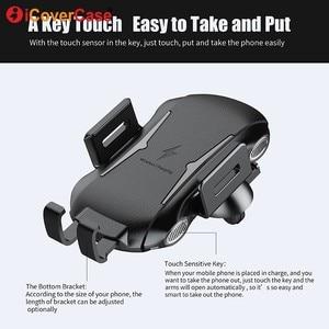 Image 2 - Cargador rápido para Blackview BV6800 Pro BV5800 pro BV9500 BV9600 Pro Qi, cargador inalámbrico para coche, soporte para almohadilla de carga, accesorio de teléfono