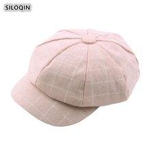 SILOQIN  Womans Hat Autumn Winter New Trend Newsboy Hats Snapback Artist Painter Leisure Tourism Octagonal Cap Gorras For Women