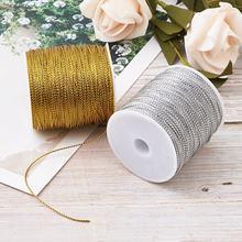 100 м/рулон 1 мм плетеные нити шнуры лента для самостоятельного