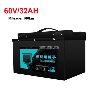 60V 32AH Electric Bike 18650 Lithium Battery For 800-1200W Motor Professional Ebike Electric Bicycle Battery Max Mileage 160km