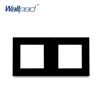 S6 Series Glass Switch and Socket DIY Combination Wall Button Light witch Power Outlet Socket Crystal Black Glass DIY Wallpad 10