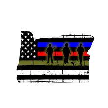 Новый oregon солдаты с изображением американского флага пожарный
