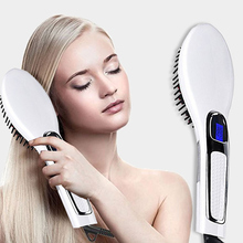 2019 New Hair Straightener Brush Electric Comb Irons Straight brush Curler styling tool