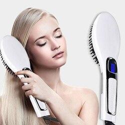 2019 nueva plancha para el cabello cepillo eléctrico cepillo peine cepillo para alisar el cabello herramienta de estilismo
