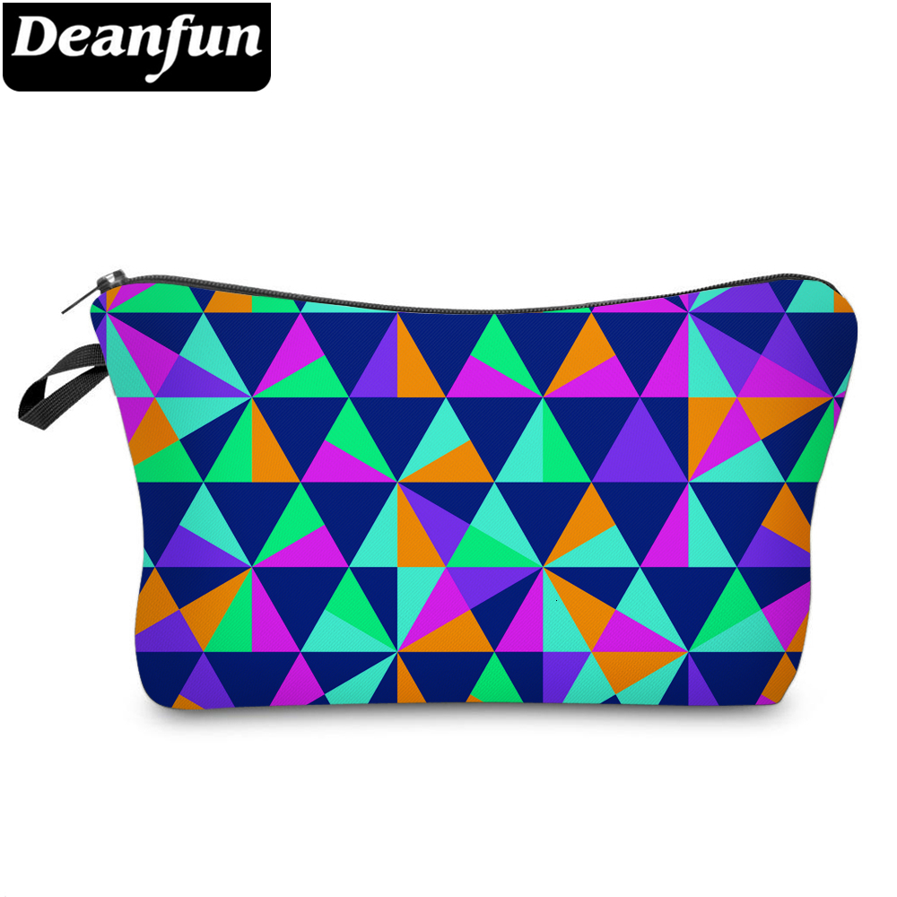 Deanfun Small Makeup Bag Waterproof Rainbow Cosmetic Bags For Women Storage Girls Gift Travel Bags 51652