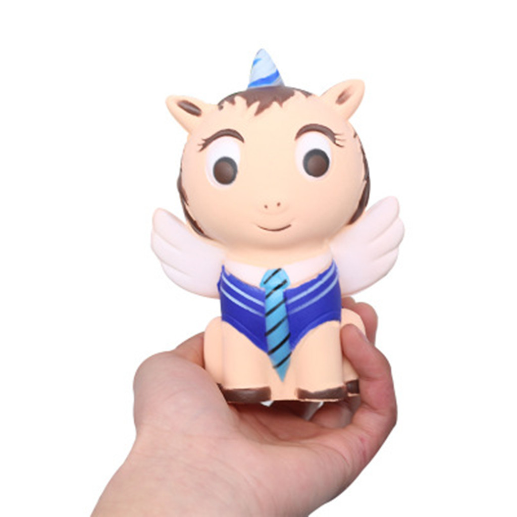 Stress Relief Toys Kawaii Squeeze Toys Squishy Stress Reliever Simulated Pegasus Scented Slow Rising Kids Squeezable ToyW807