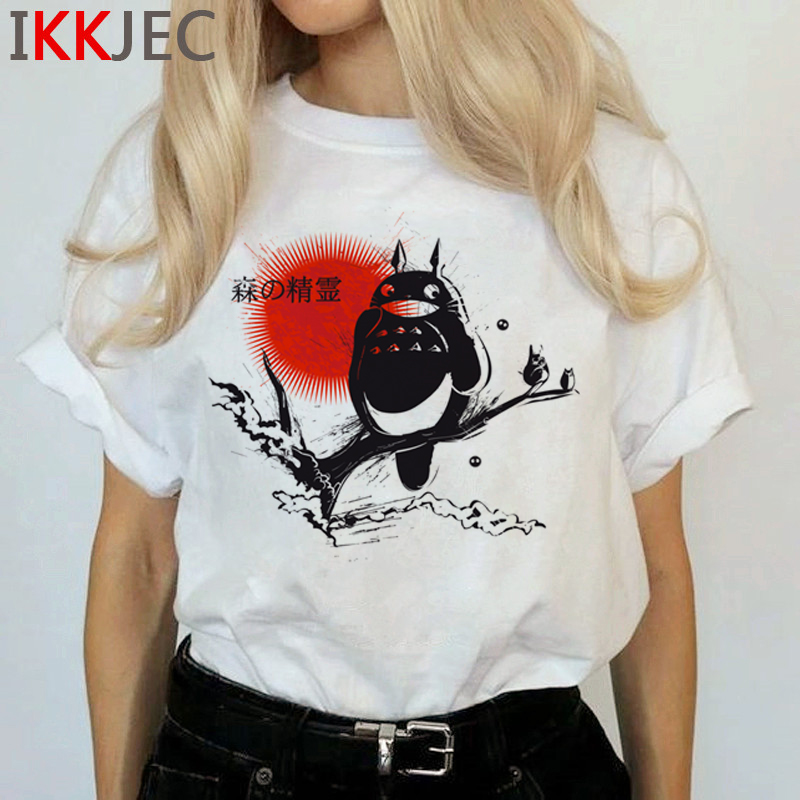 Totoro Harajuku Studio Ghibli T Shirt Women Miyazaki Hayao Ullzang Cute T-shirt Funny Cartoon Tshirt 90s Graphic Top Tees Female 16