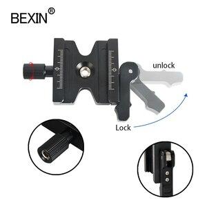 Image 5 - Statyw zacisk lustrzanka cyfrowa adapter do montażu regulowana gałka zacisk podwójna blokada szybkozłączka płyta zaciskowa do Arca Swiss statyw do aparatu