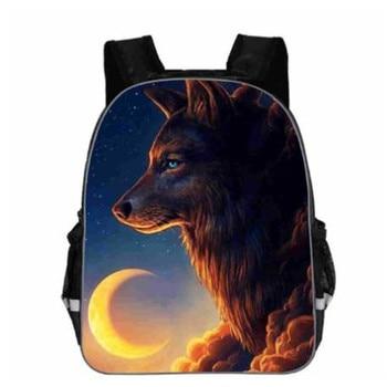 цена на Animal Wolf Backpack for Teenager Boys Girls Daypack Women Men Rucksack Children School Bags Students Backpack Kid Bookbag