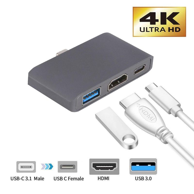 Design 3 USB Type C Hub Dock to HDMI Dex Mode for Samsung Galaxy S8 S9
