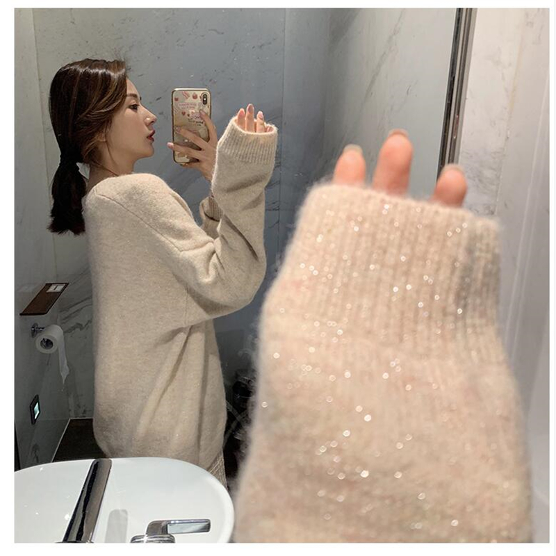 Cashmere Sweater Women Knitted Coat Female  Spring And Autumn Single Breasted Casual  Cardigan Outwear Winter Jacket Coat