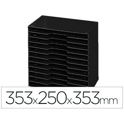 FILE MODULAR CEP POLYSTYRENE BLACK 12 Boxes 353X250X353 MM