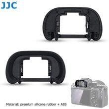 JJC kamera yumuşak vizör Eyecup Sony a7R IV a7 III a7 II a7R III a7R II a9 II a99 II değiştirir FDA EP18 mercek koruyucu