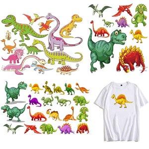 Anime Patch vêtements autocollants dinosaure monstre grand oiseau dessin animé fer sur les patchs de transfert pour enfants vêtements Applique bricolage chaleur P