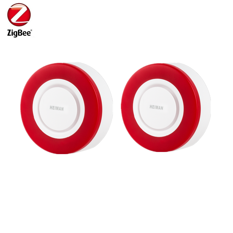 Zigbee Strobe Flash Siren Horn Alarm With 95DB Big Sounds To Threaten Thief Compatible With SmartThing Hub