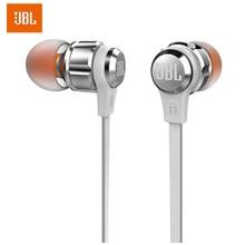 100% orijinal JBL T180A Stereo kulak içi kulaklık çalışan spor eller serbest aramalar mikrofon ile 3.5mm kablolu kulakiçi saf müzik kulaklık
