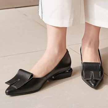 New Trendy Luxury Brand Genuine Leather Comfortable Heels Ladies Woman Pumps Women Shoes